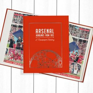 Arsenal Football Newspaper Book - Personalise it Later