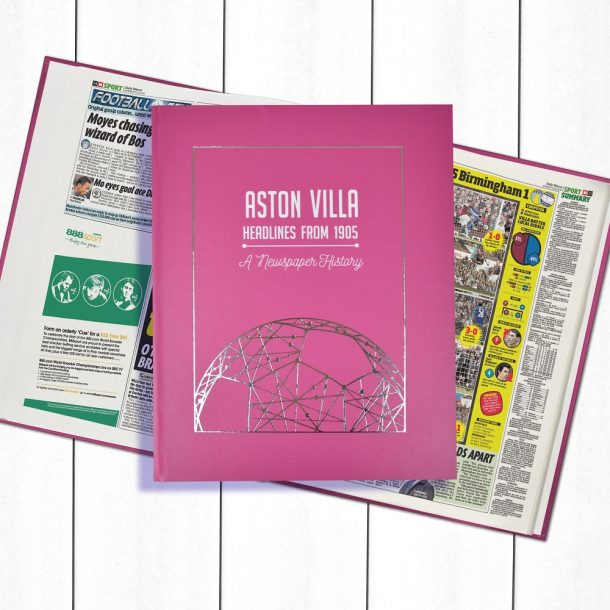 Aston Villa Football Newspaper Book - Personalise it Later