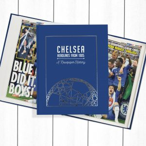 Chelsea Football Newspaper Book - Personalise it Later