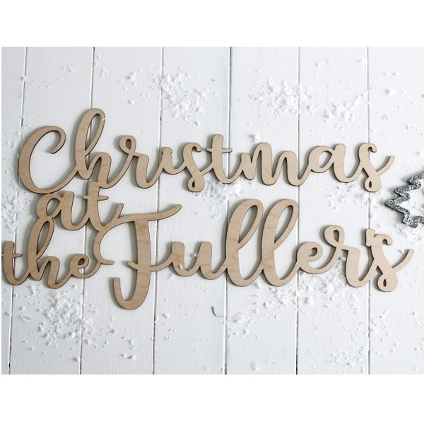 Christmas At Our House Wooden Sign