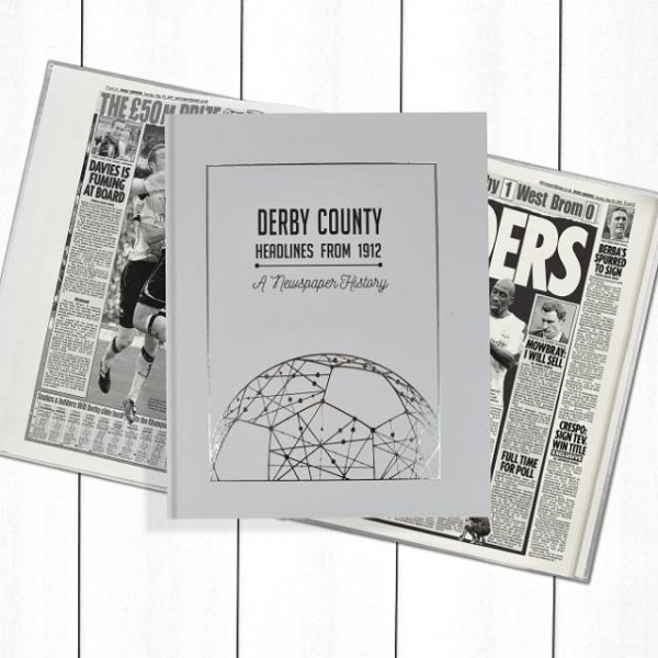 Derby County Football Newspaper Book - Personalise it Later