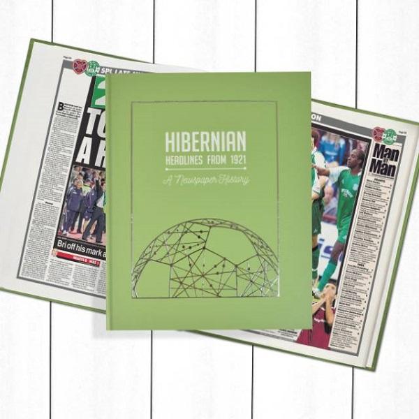 Hibernian Football Newspaper Book - Personalise it Later