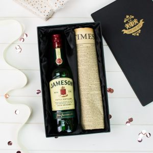 Jameson Irish Whiskey & Original Newspaper
