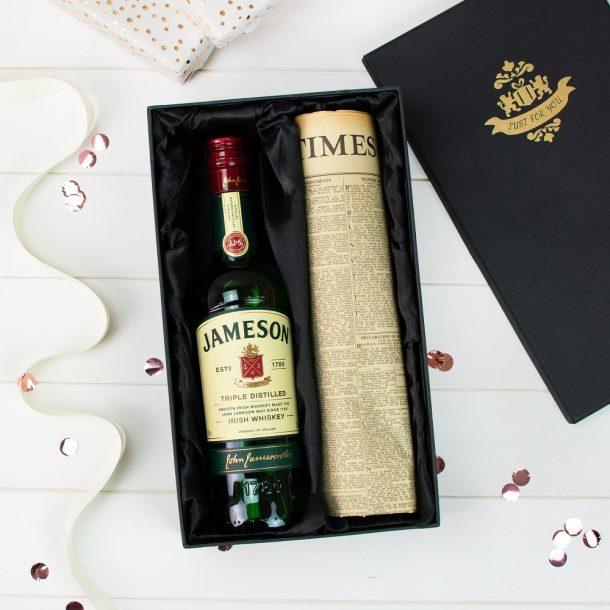 Jameson Irish Whiskey & Original Newspaper