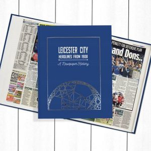 Leicester City Newspaper Book - Personalise it Later