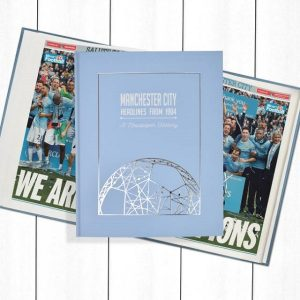 Manchester City Newspaper Book - Personalise it Later