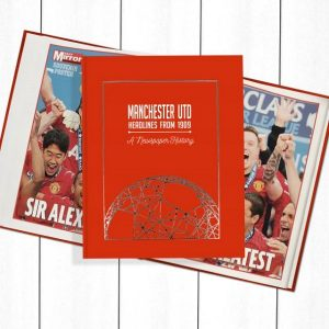 Manchester United Newspaper Book - Personalise it Later