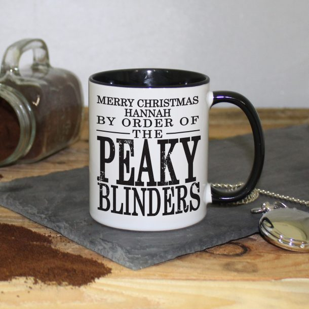 Personalised Peaky Blinders Ceramic Christmas Mug
