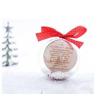 Personalised A Letter To Our Baby 10cm Christmas Bauble