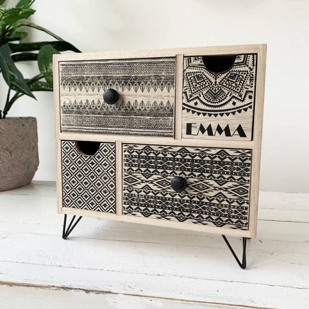 Personalised Aztec Storage Drawers