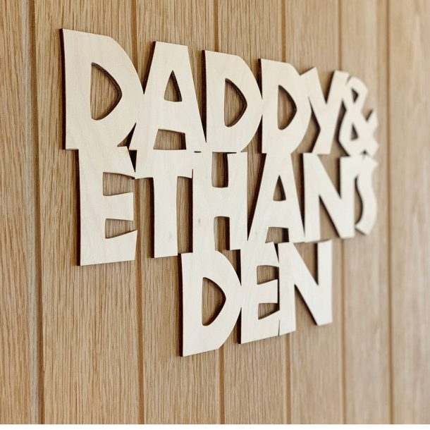 Personalised Den Sign