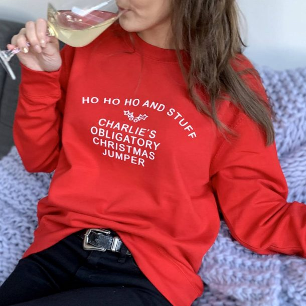 Personalised Obligatory Christmas Jumper