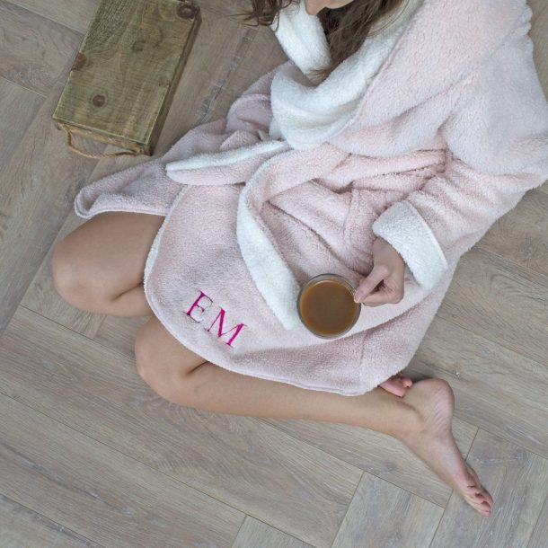 Personalised Reversible Hooded Dressing Gown