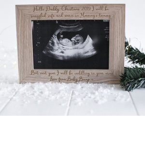 Personalised So Excited To Meet You Christmas Scan Frame