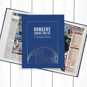 Rangers Newspaper Book - Personalise it Later