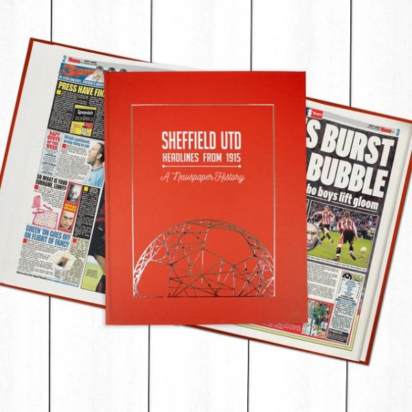Sheffield United Newspaper Book - Personalise it Later