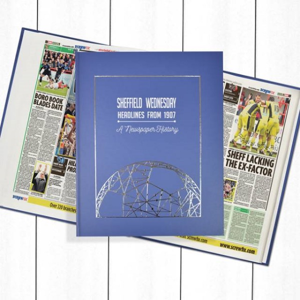 Sheffield Wednesday Newspaper Book - Personalise it Later