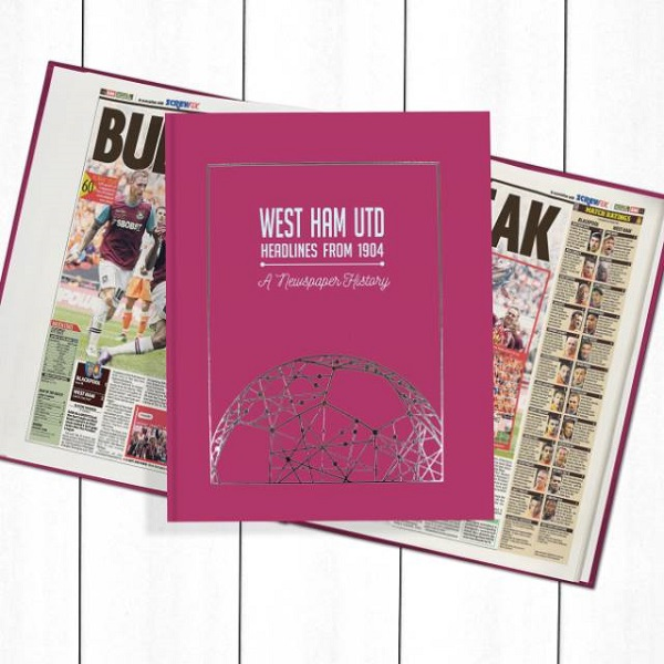 West Ham Newspaper Book - Personalise it Later