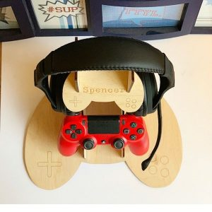Gamer Controller & Headset Personalised Stand