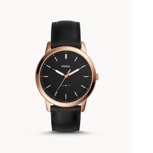 Men's Fossil Minimalist Leather Watch