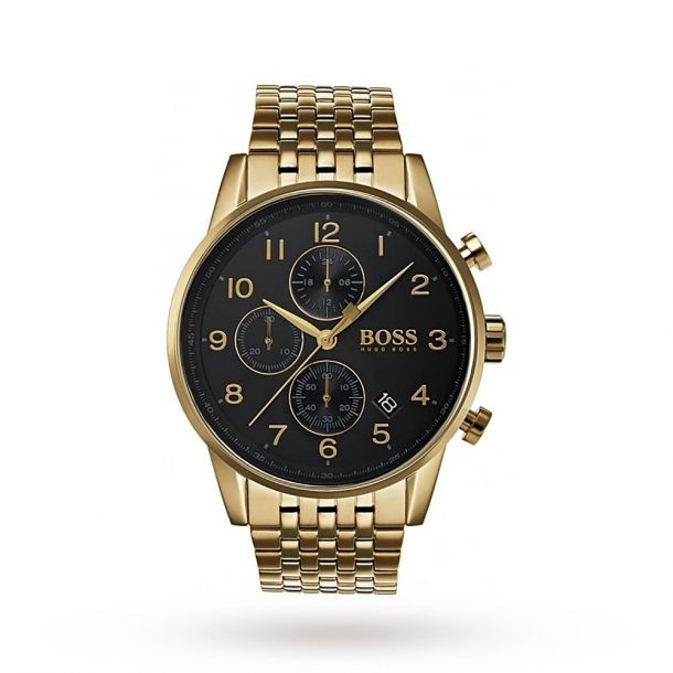 Men's Hugo Boss Navigator Gold Plated Men's Watch