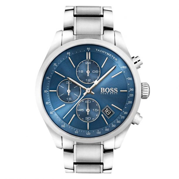 Men's Hugo Boss Stainless-Steel Sportswatch With Blue Sunray Dial