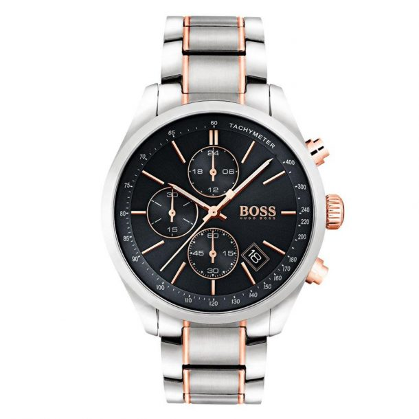 Men's Hugo Boss Two Tone Black Grand Prix Watch