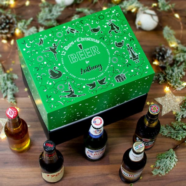 Personalised 12 Days of Christmas Gift Box – Beer