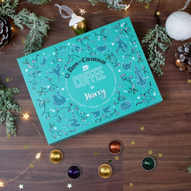 Personalised 12 Days of Christmas Gift Box – Coffee