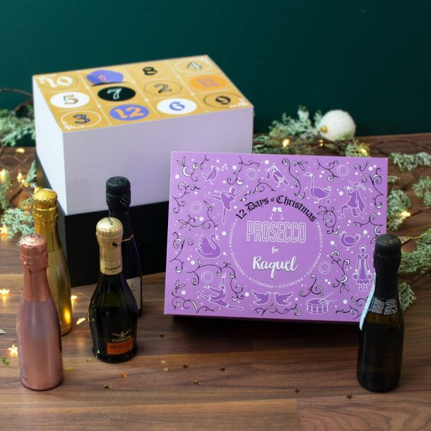 Personalised 12 Days of Christmas Gift Box – Prosecco