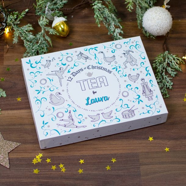 Personalised 12 Days of Christmas Gift Box – Tea