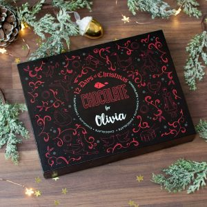 Personalised 12 Days of Christmas Gift Box – Truffle