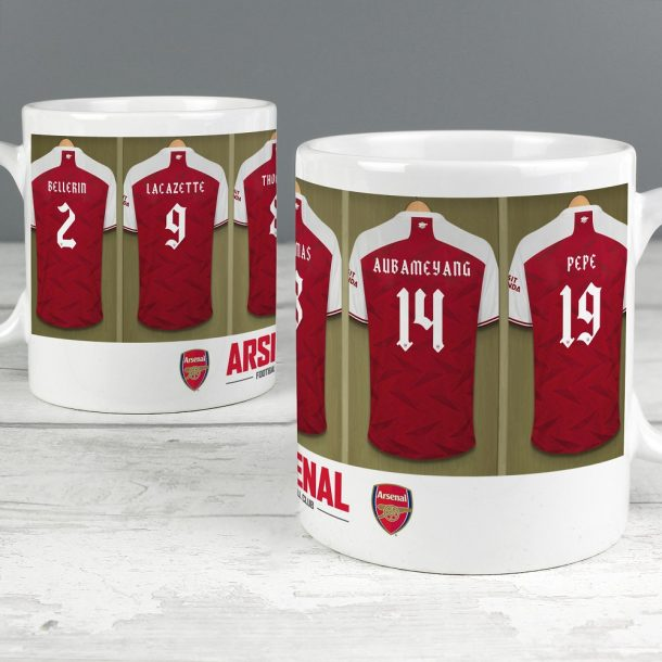 Personalised Arsenal FC Dressing Room Mug