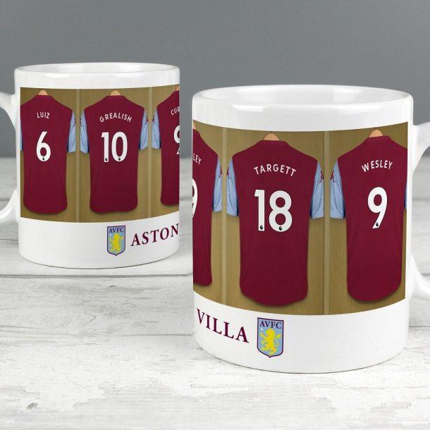 Personalised Aston Villa FC Dressing Room Mug