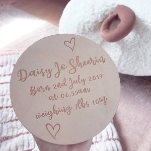 Personalised Baby Birth Announcement Sign & Wall Plaque
