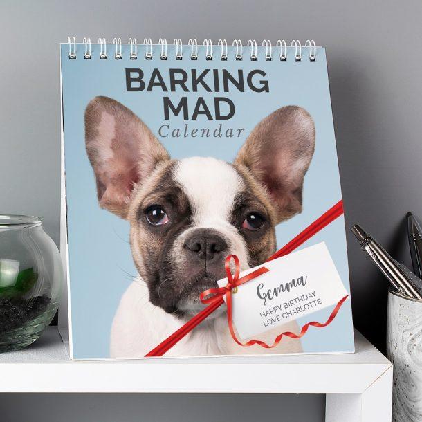 Personalised Barking Mad Dog Desk Calendar