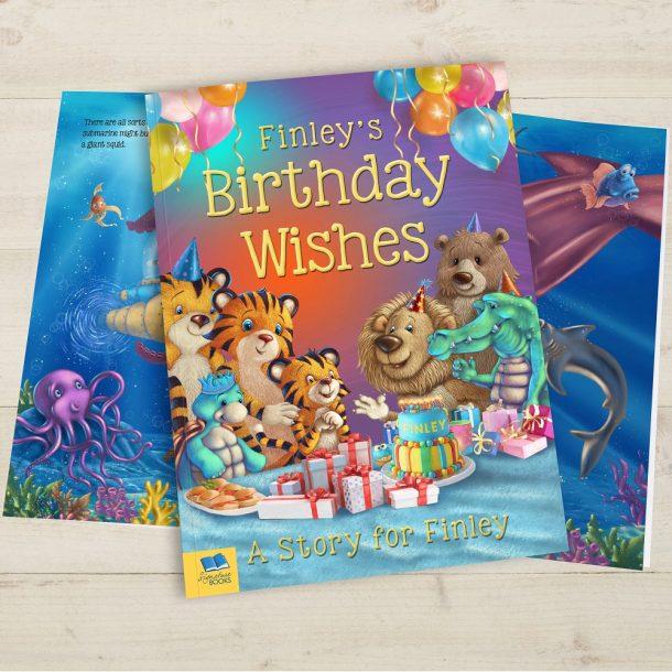 Personalised Birthday Wishes Softback Book