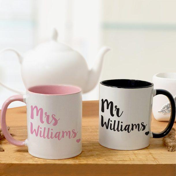 Personalised Colourful Mug Set