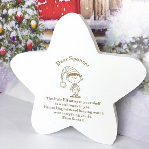 Personalised Elf On The Shelf Wooden Star