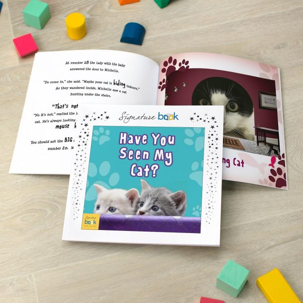 Personalised Have You Seen My Cat Softback Book