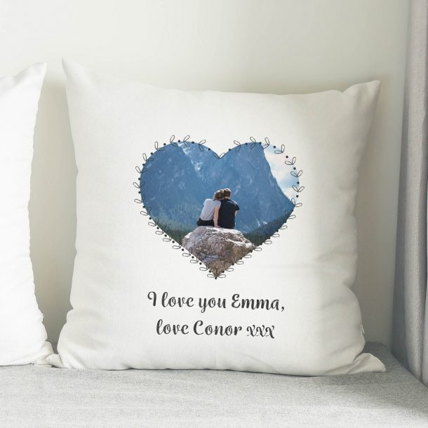 Personalised Heart Photo Upload Cushion