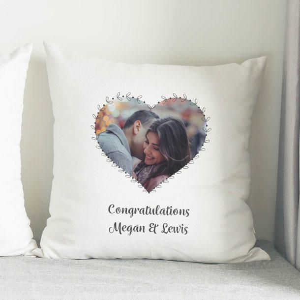 Personalised Heart Photo Upload Cushion