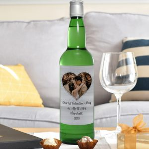 Personalised Heart Photo Upload Gin