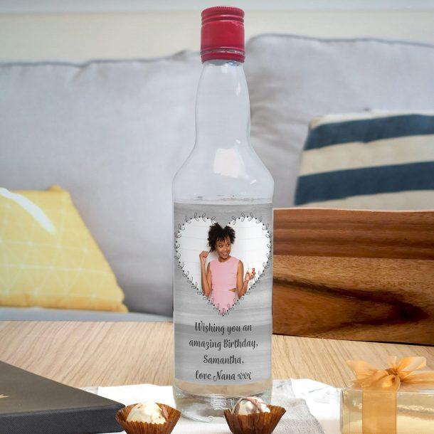 Personalised Heart Photo Upload Vodka