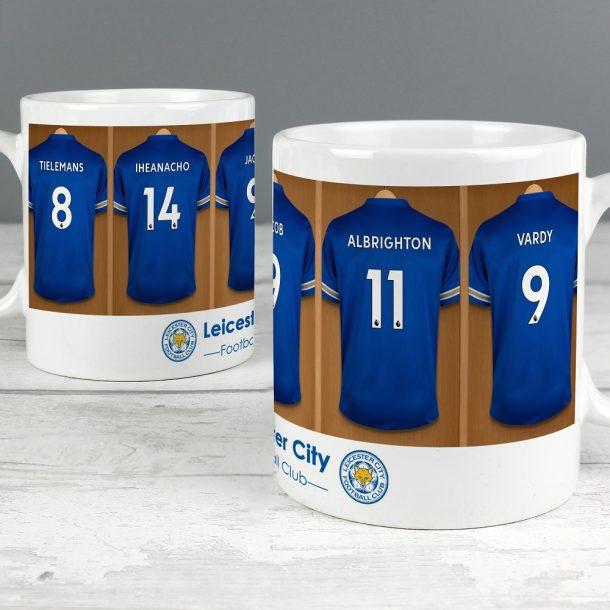Personalised Leicester City FC Dressing Room Mug