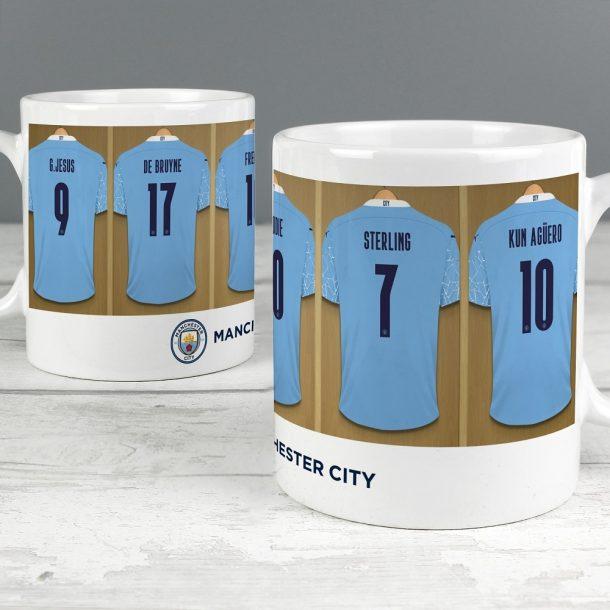 Personalised Manchester City FC Dressing Room Mug