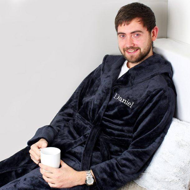 Personalised Name Luxury Hooded Robe