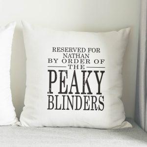 Personalised Peaky Blinders Cushion