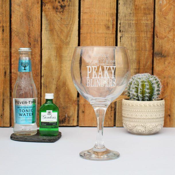Personalised Peaky Blinders Gin Set