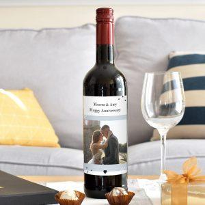 Personalised Photo Upload Red Wine